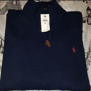 Polo half zip pullover